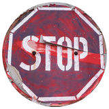 Vintage stopping attention sign Stock Photography