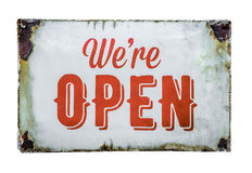Vintage Store Open Sign Stock Image