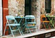 Vintage street cafe. Stock Image