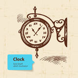 Vintage street clock Stock Photos