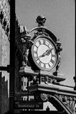 Vintage Street Clock. Historic round street clock in downtown Pittsburgh Stock Photo