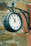 Vintage street clock Royalty Free Stock Photos
