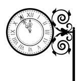 Vintage street clock Stock Images
