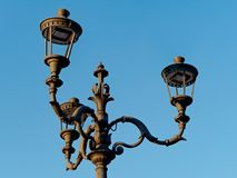 Vintage street lamp in Rome Stock Photography