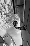 Vintage street lamp against the sky Royalty Free Stock Photography