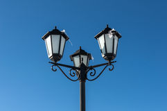 Vintage street lamp icicles Royalty Free Stock Photo