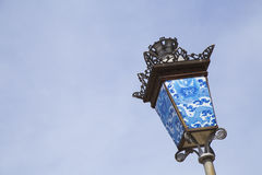 Vintage street lamp in Imperial forbidden city in Hue Royalty Free Stock Photo