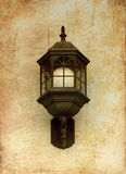 Vintage street lamp, in old image style Stock Image