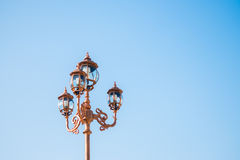 Vintage street lamp post Royalty Free Stock Photos