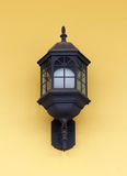 Vintage street lamp on wall Stock Photography
