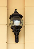 Vintage street lamp on wall Royalty Free Stock Photography
