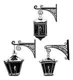 Vintage street lanterns, contours Royalty Free Stock Images