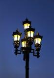 Vintage street light. Against the evening blue sky Stock Photos