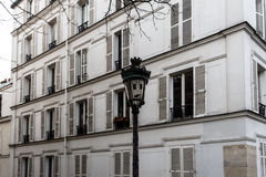 The vintage street light with astonishment emoticon Royalty Free Stock Photography