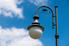 Vintage Street Light Pole On Blue Sky Royalty Free Stock Photos
