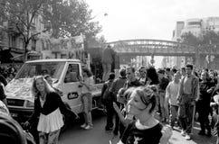 Vintage street protest - Paris Royalty Free Stock Photos