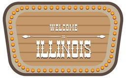 Vintage street sign Illinois vector illustration