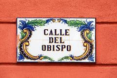 Vintage Street Signs, Old City, Havana Stock Image