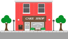 Vintage street view with Cake Shop Royalty Free Stock Images