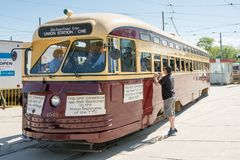 Vintage Streetcars part of Toronto heritage Stock Photos