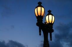Vintage streetlamp at twilight Stock Photo