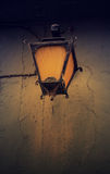 Vintage streetlight on the rustic background at the sunset. Tone Royalty Free Stock Photos