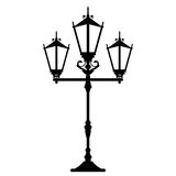 Vintage streetlight vector illustration