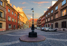 Vintage streets in Warsaw In the evening. Stock Image