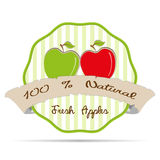 vintage striped Apple Juice business label badge vector health eco illustration  Stock Images