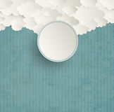 Vintage Striped Background With Clouds Stock Photos