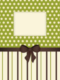 Vintage striped background with cut out Stock Image