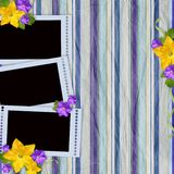 Vintage striped background with frames Stock Images