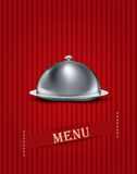 vintage striped background with menu items Stock Photo