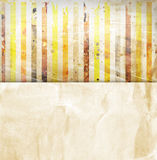 Vintage striped background. With place for text Royalty Free Stock Image