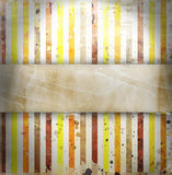 Vintage striped background. With place for text Royalty Free Stock Photography