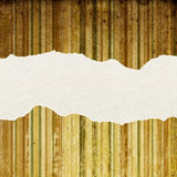 Vintage striped paper with torn edges. Royalty Free Stock Photography