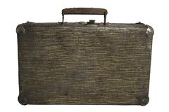 Vintage suitcase on white background royalty free stock photography