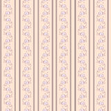 Vintage striped wallpaper with  flowers. Beige vintage striped wallpaper with cute flowers Royalty Free Stock Photos