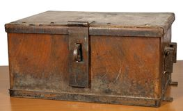 Vintage strongbox Stock Photography