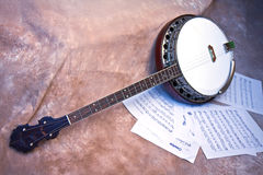 Vintage Strummer Banjo Stock Photography