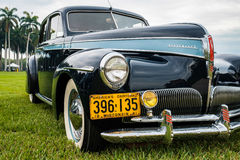 Vintage Studebaker Automobile. Miami, FL USA - March 12, 2017: Close up view of a beautifully restored vintage 1941 Studebaker Commander automobile at a public Stock Images