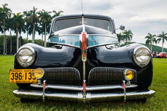 Vintage Studebaker Automobile. Miami, FL USA - March 12, 2017: Close up view of the front end of a beautifully restored vintage 1941 Studebaker Commander Stock Photo