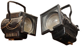 Vintage studio light Stock Images