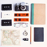 Vintage study items Royalty Free Stock Photo