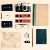 Vintage study items Royalty Free Stock Image