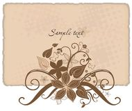 Vintage style. Vector drawing of vintage card decorated with flowers Stock Image