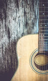 Vintage style with acoustic guitar Royalty Free Stock Image