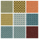 Vintage style aged seamless tiles patterns set with grungy dirt Stock Photos