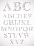 Vintage style alphabet. Stock Images