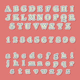 Vintage Style Alphabets And Numbers Set Stock Photography